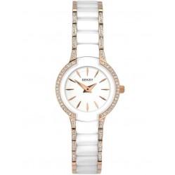 Sekonda Ladies Seksy Entice Two Tone White Rose Gold Plated Stone Set Bracelet Watch 2381