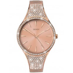 Sekonda Seksy Rose Gold Plated Swarovski Crystal Bracelet Watch 2669