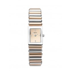 Sekonda Ladies Seksy Edge Champagne Swarovski Crystal Set Dial Two Colour Bracelet Watch 2867
