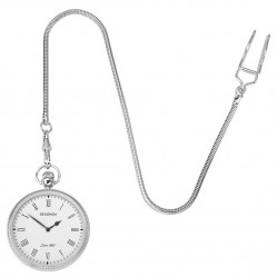 Sekonda Mens White Dial Silver Coloured Pocket Watch 1792