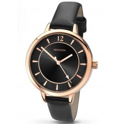 Sekonda Ladies Editions Black Strap Watch 2138
