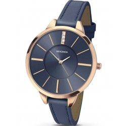 Sekonda Ladies Blue Leather Watch 2248