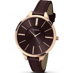 Sekonda Ladies Brown Leather Watch 2250