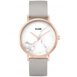 Cluse La Roche Rose Gold Plated Grey Strap Watch CL40005
