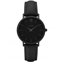 Cluse Minuit Full Black Strap Watch CL30008