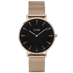 Cluse La Boheme Rose Gold Plated Mesh Bracelet Watch CL18113