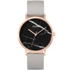 Cluse La Roche Rose Gold Plated Grey Strap Watch CL40006
