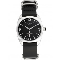 Minster 1949 Mens Burlington Black Leather Strap Watch MN04BKSL10