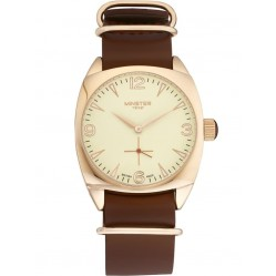 Minster 1949 Mens Burlington Brown Leather Strap Watch MN04CRRG10