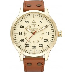 Minster 1949 Mens Bradnor Brown Leather Strap Watch MN02CRGL10
