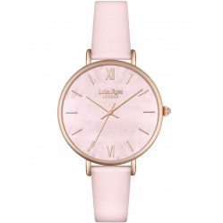 Lola Rose Ladies Rose Quartz Leather Strap Watch LR2026