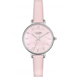 Lola Rose Ladies Rose Quartz Leather Strap Watch LR2035