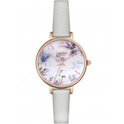 Lola Rose Ladies Snowflake Agate Leather Strap Watch LR2042