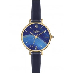 Lola Rose Ladies Sapphire Agate Leather Strap Watch LR2036