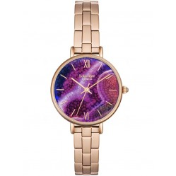 Lola Rose Ladies Aqua Purple Agate Stainless Steel Bracelet Watch LR4008