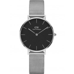 Daniel Wellington Ladies Classic Petite Black Sterling Watch DW00100162