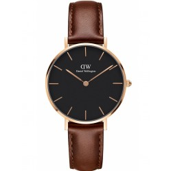 Daniel Wellington Ladies Classic Petite Black St Mawes Watch DW00100169