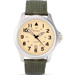 Sekonda Mens Fabric Strap Watch 3341