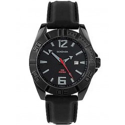 Sekonda Mens Black Strap Watch 3345