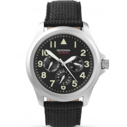 Sekonda Mens Black Strap Watch 3445