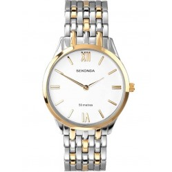 Sekonda Mens Two Tone Bracelet Watch 3449