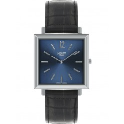 Henry London Mens Heritage Blue Watch HL34-QS-0267