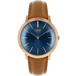Henry London Mens Iconic Blue Watch HL40-S-0244