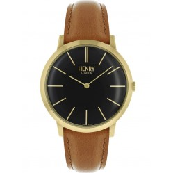 Henry London Mens Iconic Black Watch HL40-S-0242