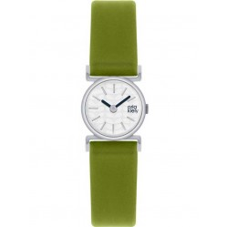 Orla Kiely Frankie Green Leather Strap Watch OK2019