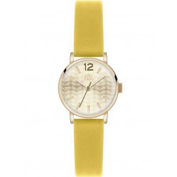 Orla Kiely Frankie Gold Plated Yellow Strap Watch OK2020