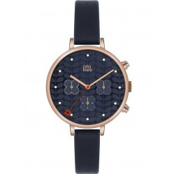Orla Kiely Ivy Rose Gold Plated Chronograph Strap Watch OK2042