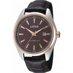 Lorus Mens Leather Strap Watch RH904DX9
