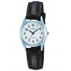 Lorus Ladies Brown Leather Strap Watch RS13VX9
