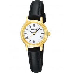 Lorus Ladies Gold Black Watch RG294HX9