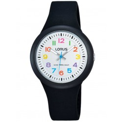 Lorus Kids Easy Read Black Rubber Strap Watch RRX41EX9