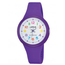Lorus Kids Easy Read Purple Rubber Strap Watch RRX47EX9