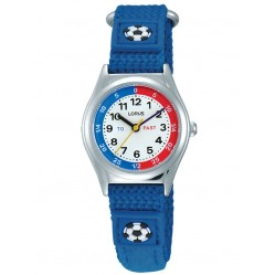 Lorus Kids Time Teacher Blue Football Nylon Strap Watch RG247KX9