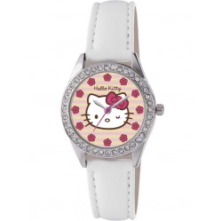 Hello Kitty Kids Stone Set White Strap Watch HK008