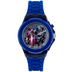 Avengers Kids Dark Blue Light Up Captain America Watch CTA3105