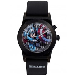 Avengers Kids Black Light Up Iron Man Watch CTA3121