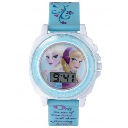 Disney Kids Singing Frozen Blue Digital Watch FZN3677
