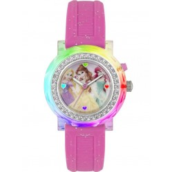 Disney Kids Pink Princess Glittery Watch PN1067