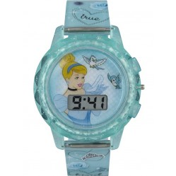 Disney Kids Cinderella Blue Digital Watch PN1334