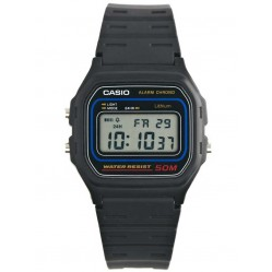Casio Mens Retro Alarm Chronograph Strap Watch W-59-1VQES