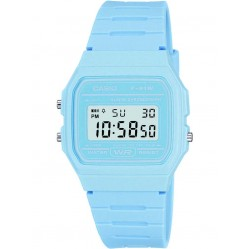 Casio Unisex CASIO Collection Digital Display Blue Rubber Strap Watch F-91WC-2AEF