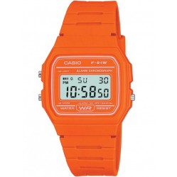 Casio Unisex Orange Alarm Watch F-91WC-4A2EF