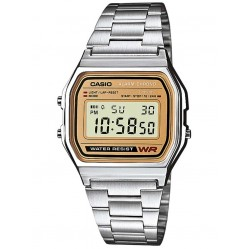 Casio CASIO Collection Retro Digital Two Tone Bracelet Watch A158WEA-9EF