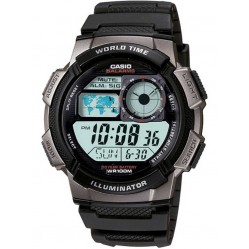 Casio Mens Illuminator Worldtime Strap Watch AE-1000W-1A2VEF