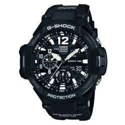 Casio Mens G-Shock Air Black Rubber Strap Watch GA-1100-1AER
