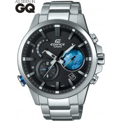 Casio Mens Edifice Connect Bluetooth Bracelet Smartwatch EQB-600D-1A2ER